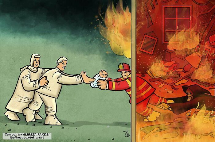 60 Ilustrações digitais que expõem as falhas da sociedade atual por Alireza Pakdel 42