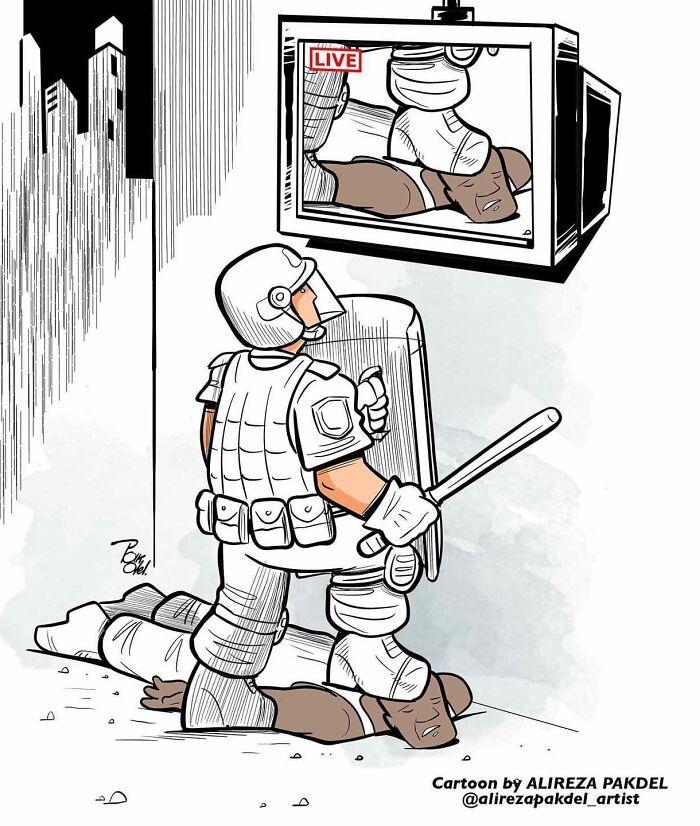 60 Ilustrações digitais que expõem as falhas da sociedade atual por Alireza Pakdel 40