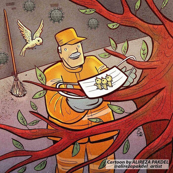 60 Ilustrações digitais que expõem as falhas da sociedade atual por Alireza Pakdel 39