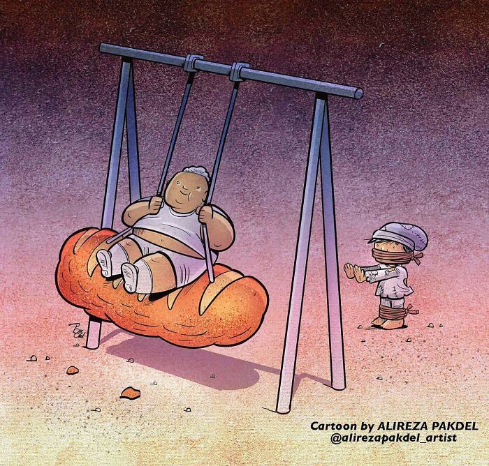 60 Ilustrações digitais que expõem as falhas da sociedade atual por Alireza Pakdel 37