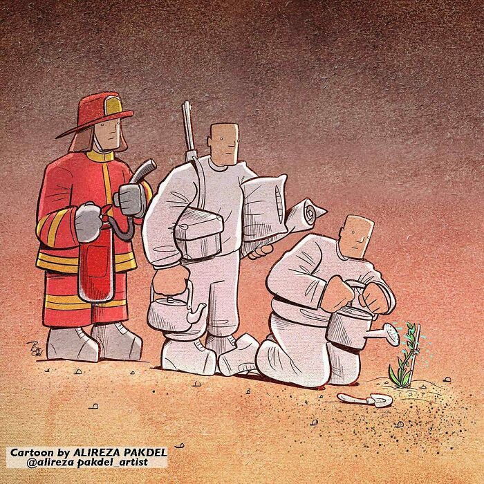 60 Ilustrações digitais que expõem as falhas da sociedade atual por Alireza Pakdel 33