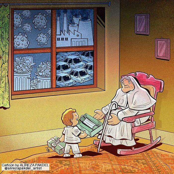 60 Ilustrações digitais que expõem as falhas da sociedade atual por Alireza Pakdel 32