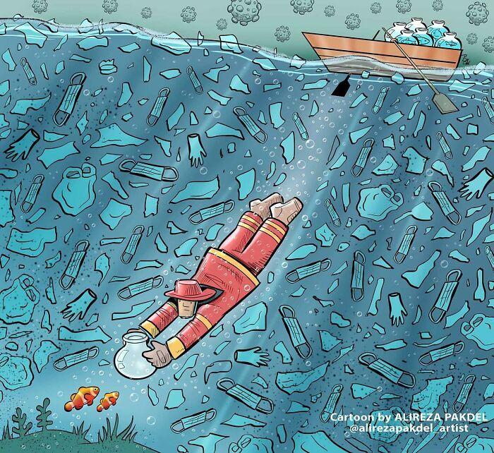 60 Ilustrações digitais que expõem as falhas da sociedade atual por Alireza Pakdel 30