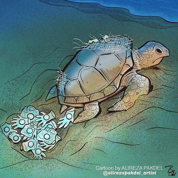 60 Ilustrações digitais que expõem as falhas da sociedade atual por Alireza Pakdel 27