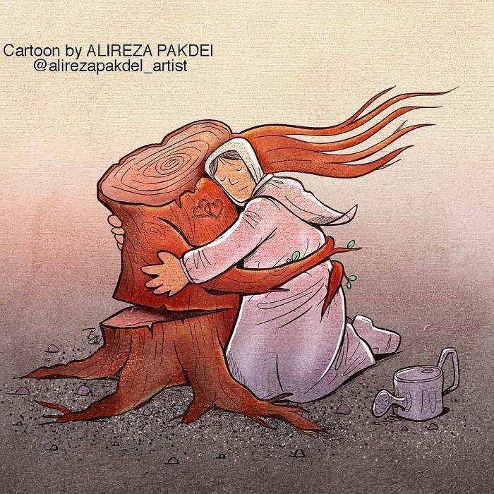 60 Ilustrações digitais que expõem as falhas da sociedade atual por Alireza Pakdel 25