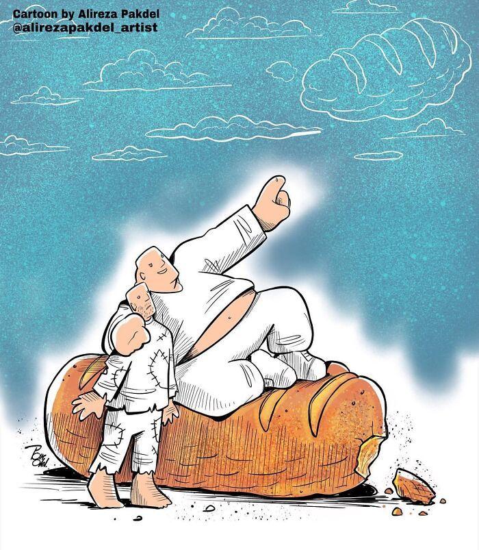 60 Ilustrações digitais que expõem as falhas da sociedade atual por Alireza Pakdel 23