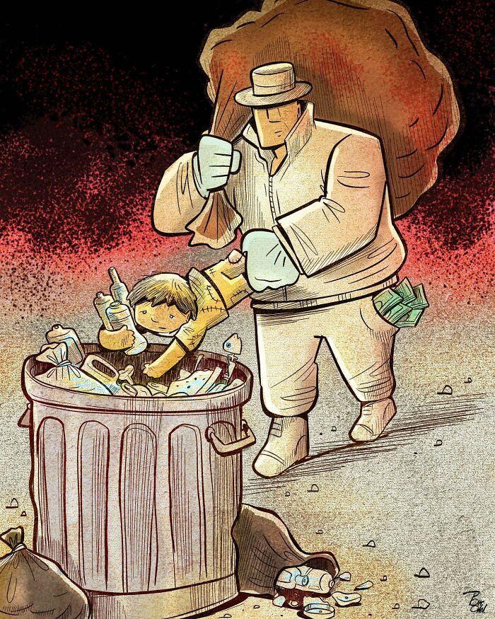 60 Ilustrações digitais que expõem as falhas da sociedade atual por Alireza Pakdel 21