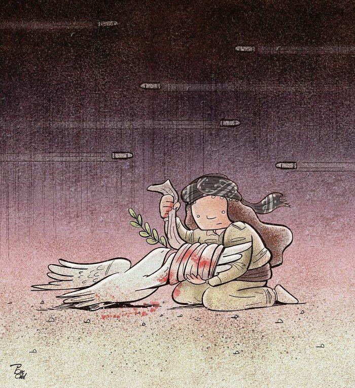 60 Ilustrações digitais que expõem as falhas da sociedade atual por Alireza Pakdel 16