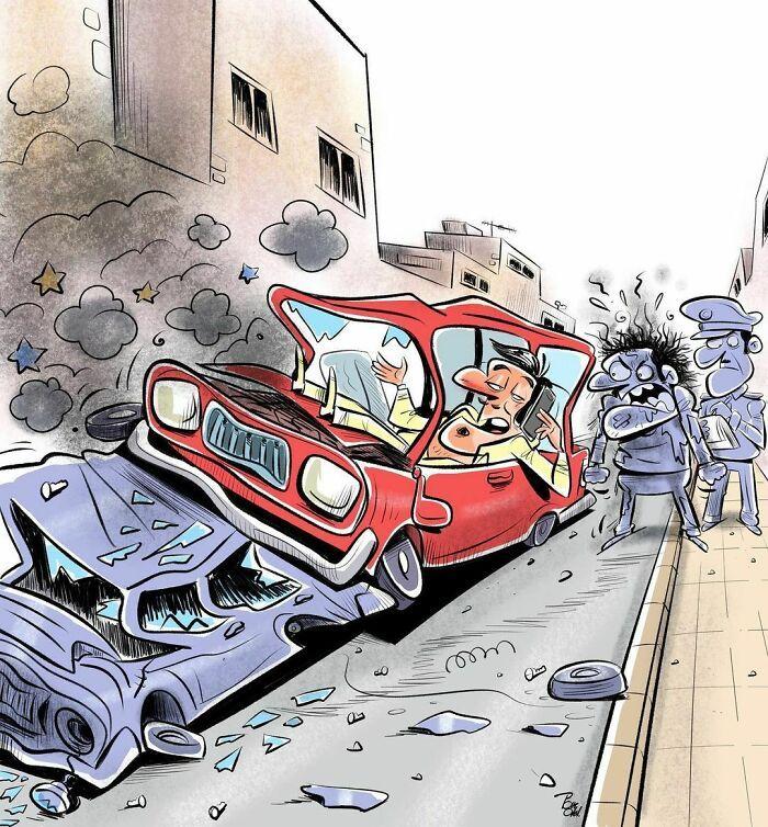 60 Ilustrações digitais que expõem as falhas da sociedade atual por Alireza Pakdel 15