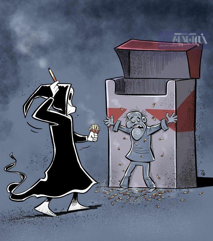 60 Ilustrações digitais que expõem as falhas da sociedade atual por Alireza Pakdel 11