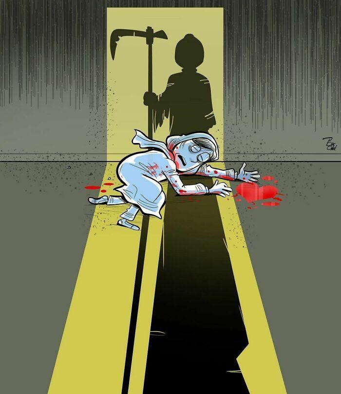 60 Ilustrações digitais que expõem as falhas da sociedade atual por Alireza Pakdel 7