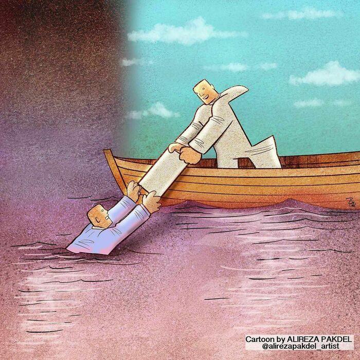 60 Ilustrações digitais que expõem as falhas da sociedade atual por Alireza Pakdel 6