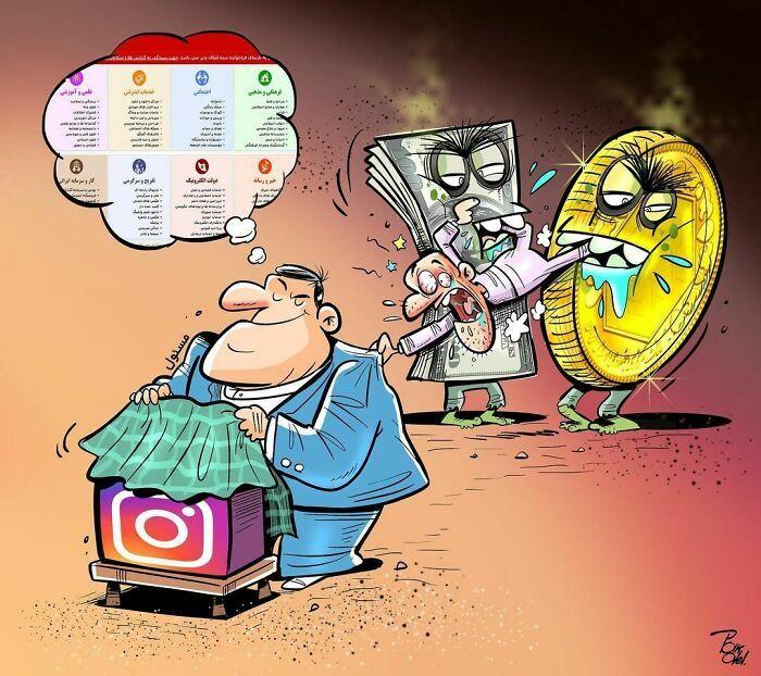 60 Ilustrações digitais que expõem as falhas da sociedade atual por Alireza Pakdel 5