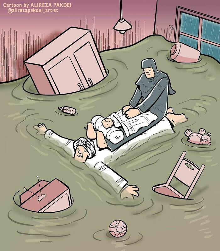 60 Ilustrações digitais que expõem as falhas da sociedade atual por Alireza Pakdel 3
