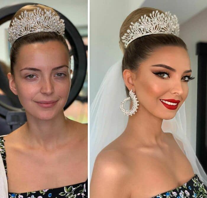 20 noivas antes e depois da maquiagem por Arber Bytyqi 4