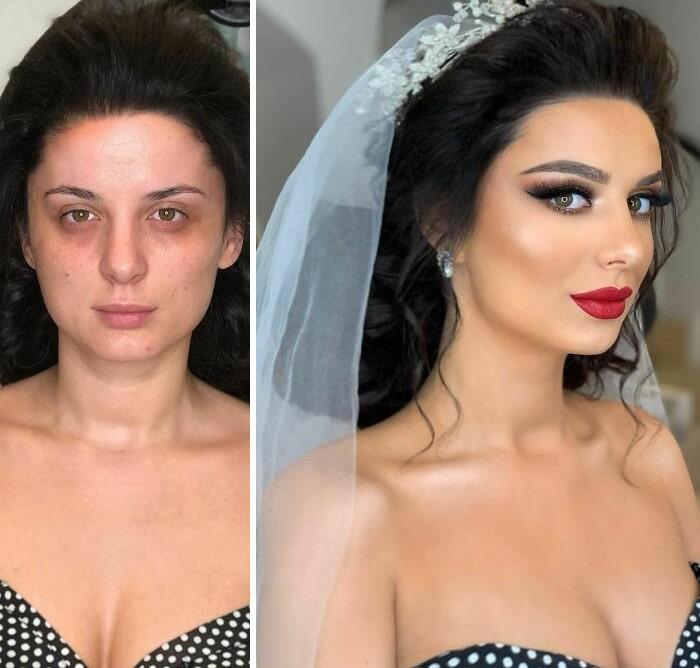 20 noivas antes e depois da maquiagem por Arber Bytyqi 5