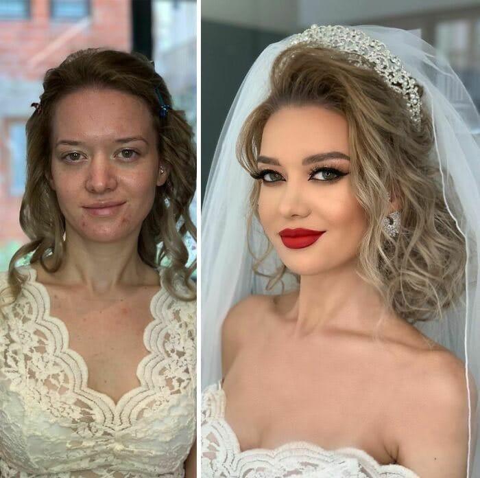 20 noivas antes e depois da maquiagem por Arber Bytyqi 7