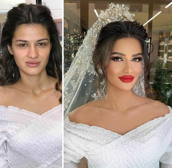 20 noivas antes e depois da maquiagem por Arber Bytyqi 20