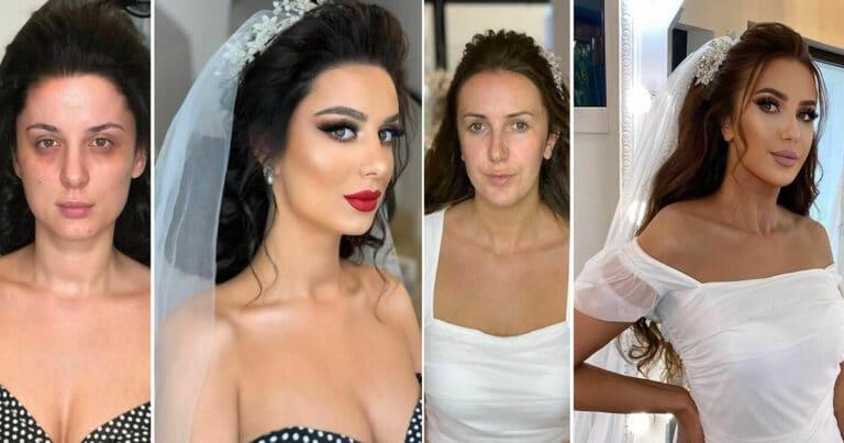 20 noivas antes e depois da maquiagem por Arber Bytyqi 1