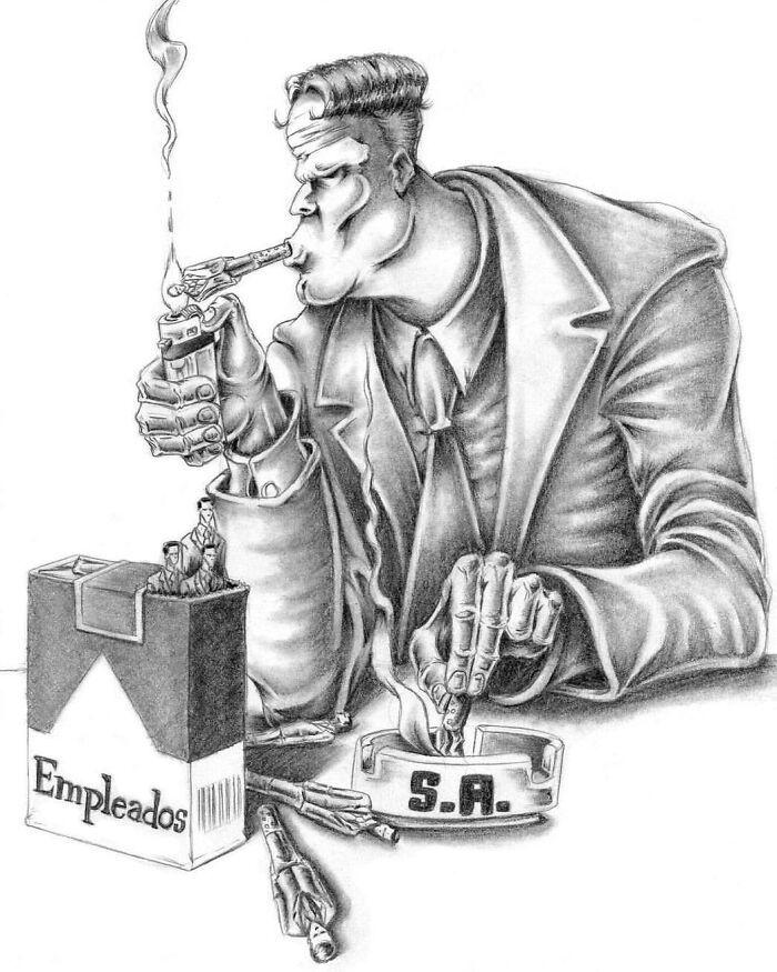 Os erros da sociedade atual em 55 ilustrações controversas 5