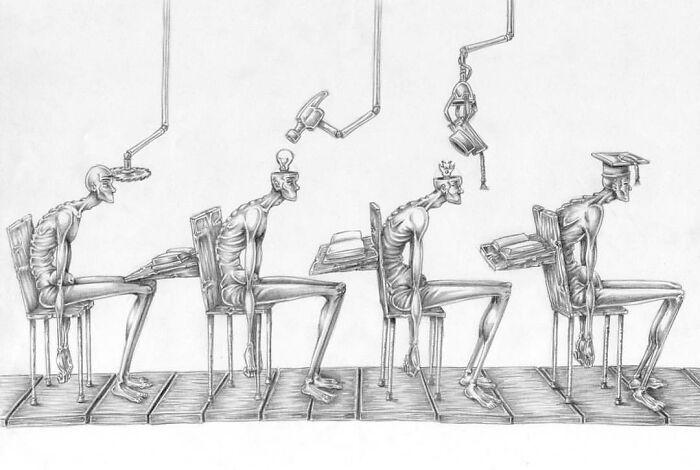 Os erros da sociedade atual em 55 ilustrações controversas 8