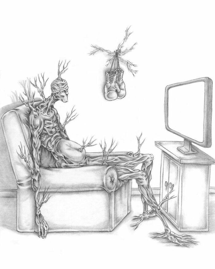 Os erros da sociedade atual em 55 ilustrações controversas 13