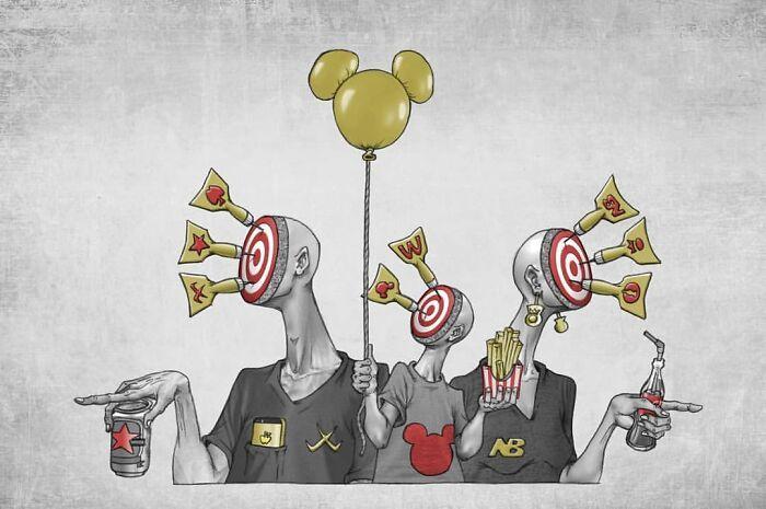 Os erros da sociedade atual em 55 ilustrações controversas 23