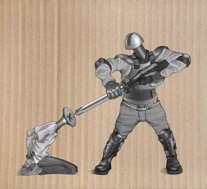 Os erros da sociedade atual em 55 ilustrações controversas 29