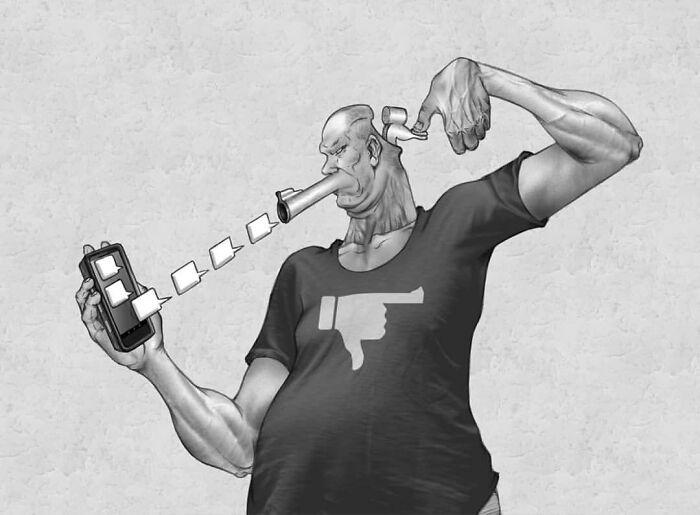 Os erros da sociedade atual em 55 ilustrações controversas 31