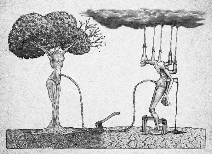 Os erros da sociedade atual em 55 ilustrações controversas 33