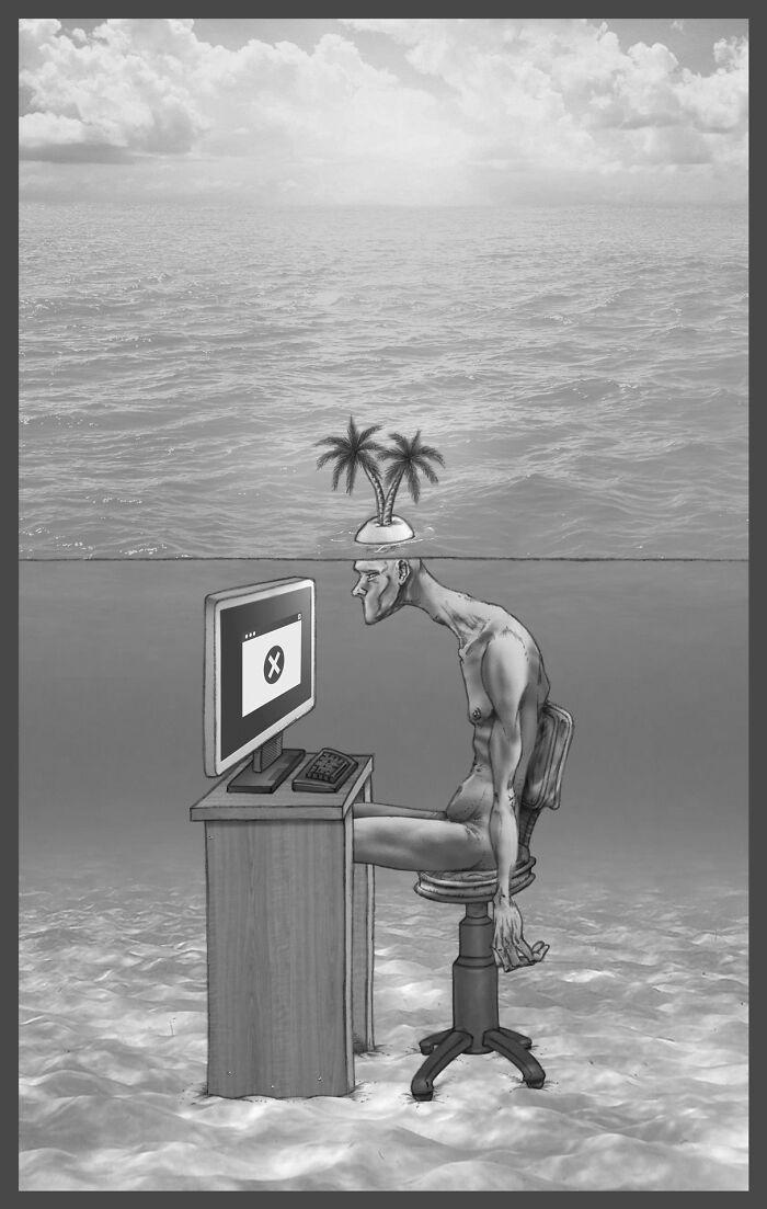 Os erros da sociedade atual em 55 ilustrações controversas 41