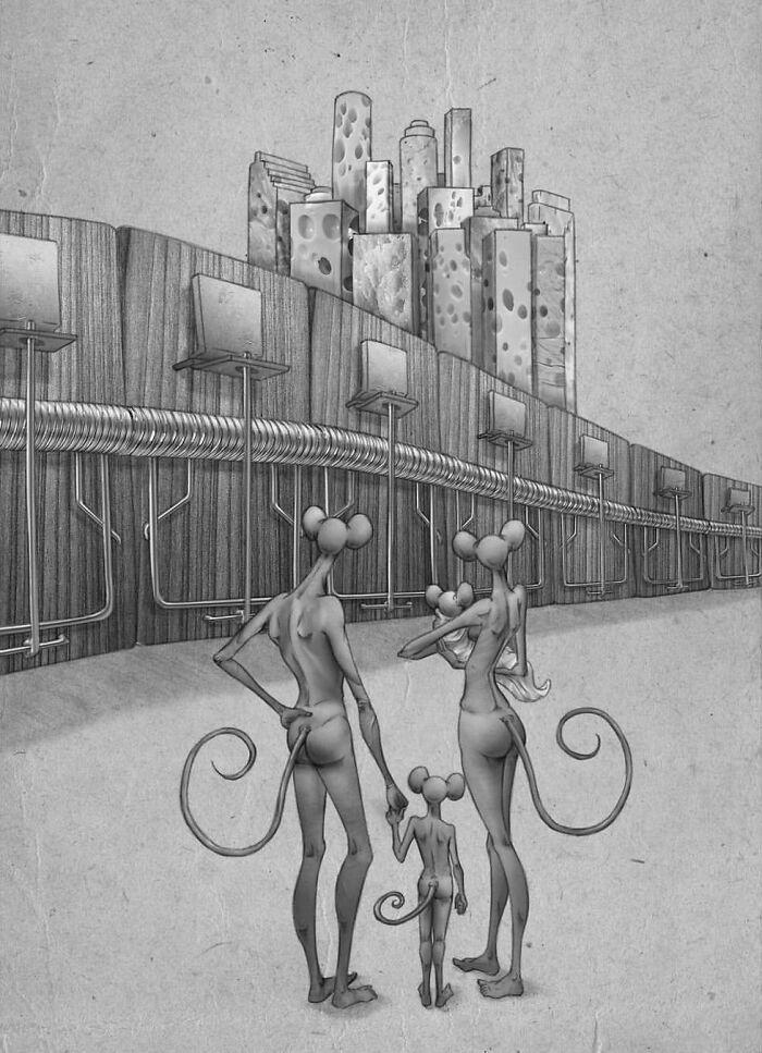 Os erros da sociedade atual em 55 ilustrações controversas 46
