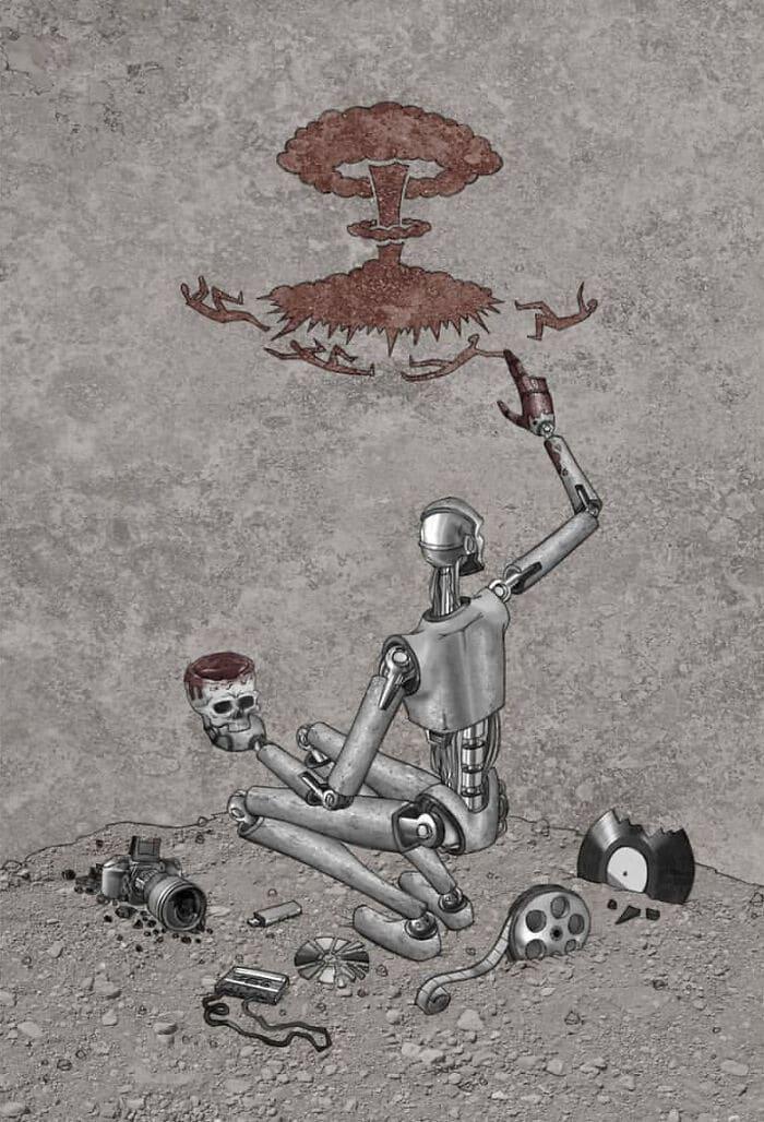 Os erros da sociedade atual em 55 ilustrações controversas 48