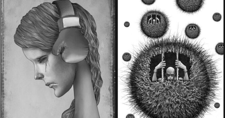 Os erros da sociedade atual em 55 ilustrações controversas 1