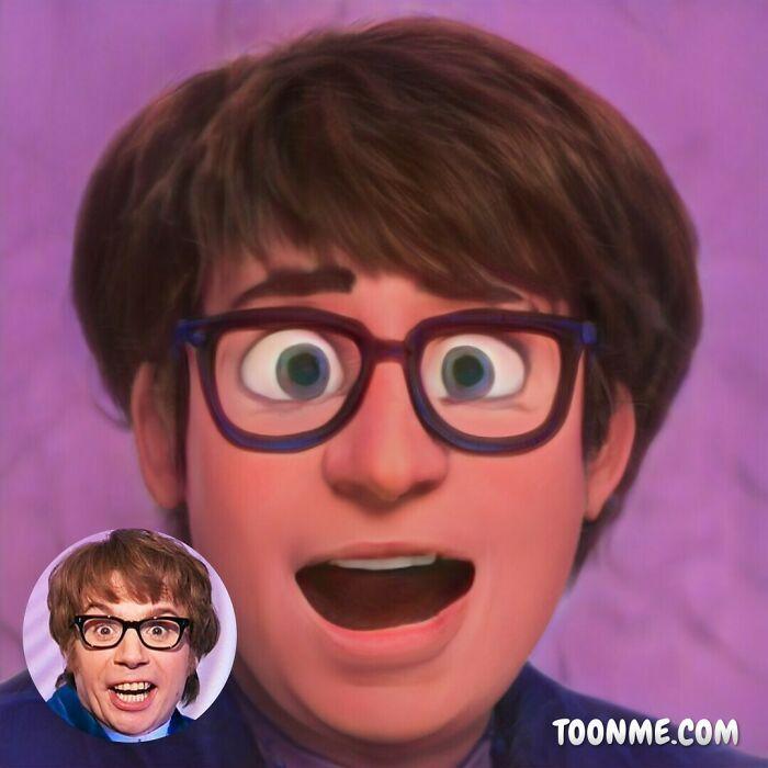 40 pessoas famosas se transformaram em personagens da Pixar com a ajuda do ToonMe 23