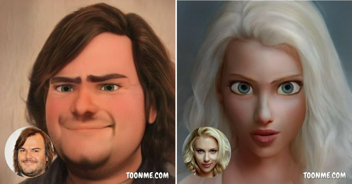 40 pessoas famosas se transformaram em personagens da Pixar com a ajuda do ToonMe 24