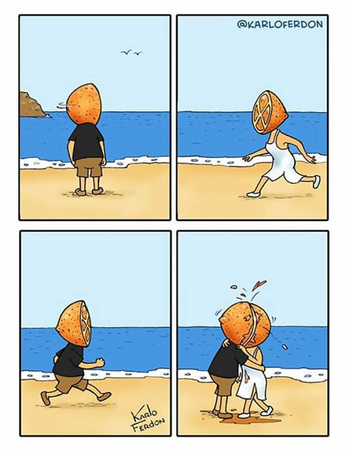 30 quadrinhos curtos e humorísticos de Karlo Ferdon 30
