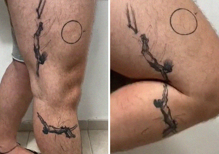 38 tatuagens impressionantes de movimento que se transformam quando as pessoas dobram seus corpos 22