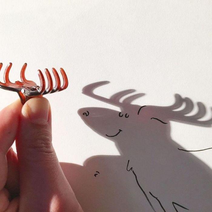 Um artista belga usa sombras para dar vida a objetos 19