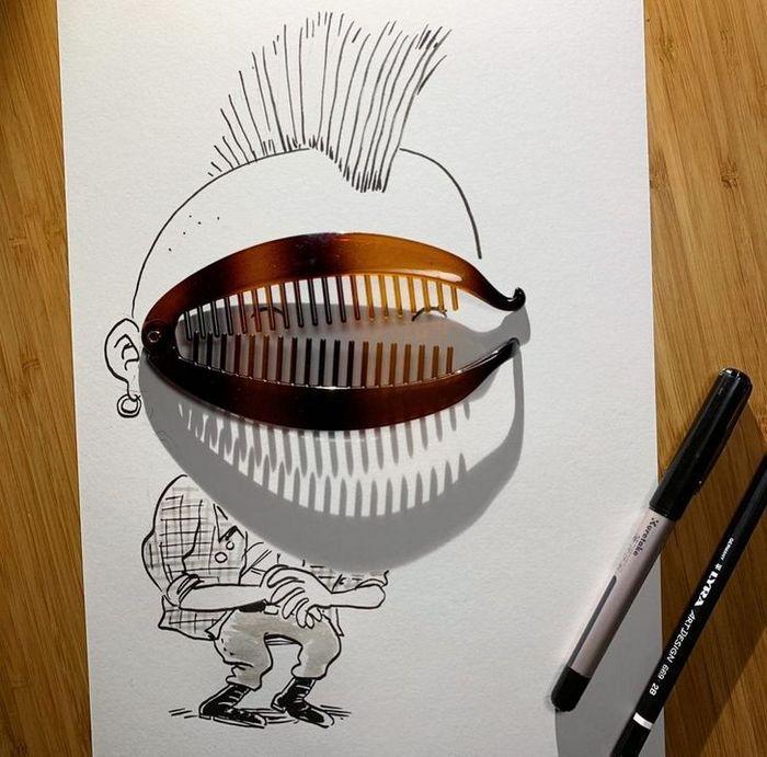 Um artista belga usa sombras para dar vida a objetos 26