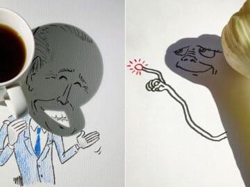 Um artista belga usa sombras para dar vida a objetos 2