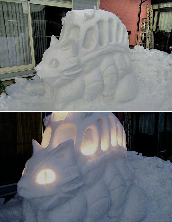 Usuário do Twitter cria esculturas de neve fascinantes e aqui estão 30 das mais legais 3