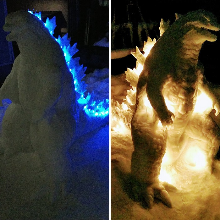 Usuário do Twitter cria esculturas de neve fascinantes e aqui estão 30 das mais legais 4