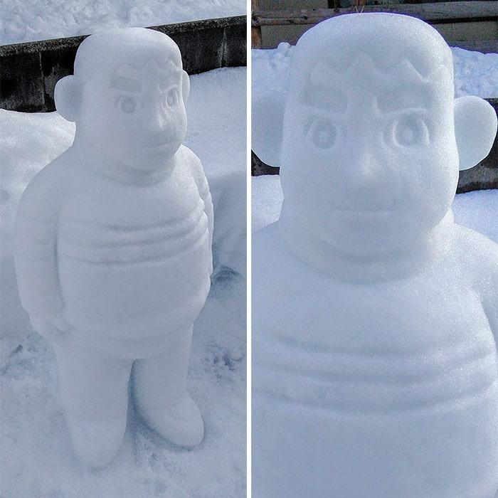 Usuário do Twitter cria esculturas de neve fascinantes e aqui estão 30 das mais legais 5