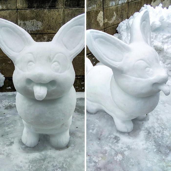 Usuário do Twitter cria esculturas de neve fascinantes e aqui estão 30 das mais legais 6