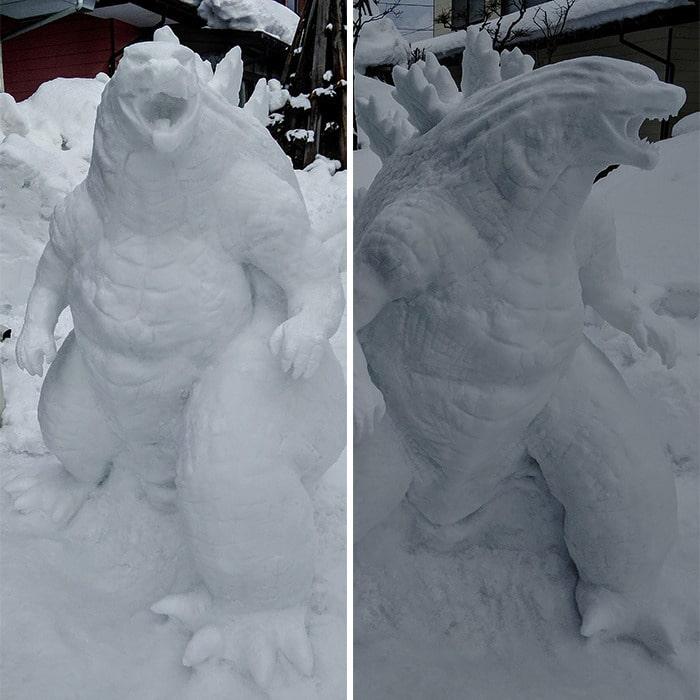 Usuário do Twitter cria esculturas de neve fascinantes e aqui estão 30 das mais legais 8