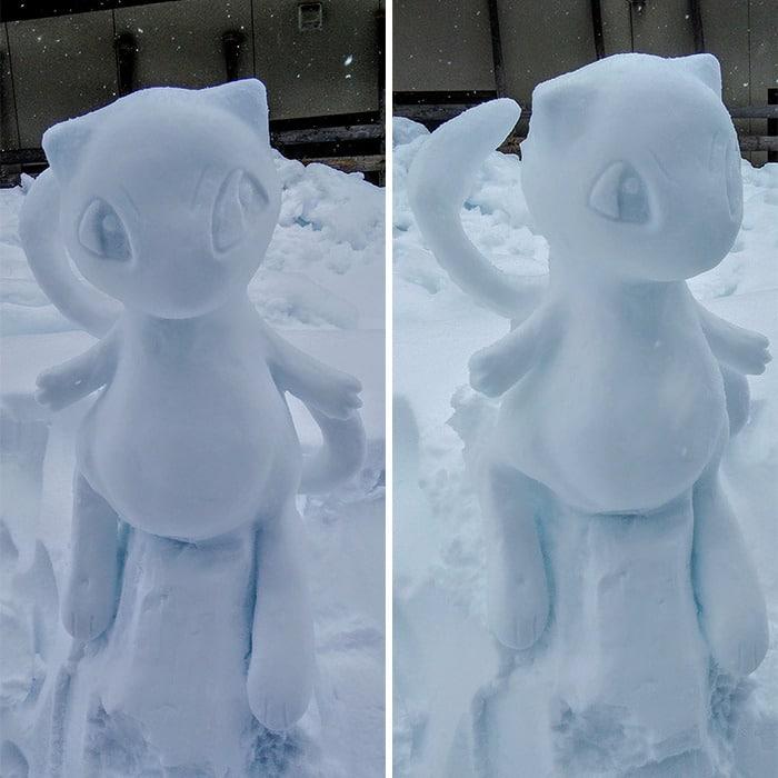 Usuário do Twitter cria esculturas de neve fascinantes e aqui estão 30 das mais legais 9