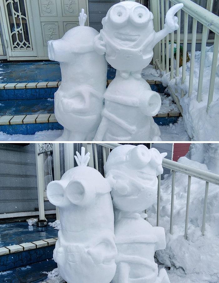 Usuário do Twitter cria esculturas de neve fascinantes e aqui estão 30 das mais legais 10