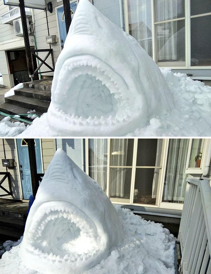 Usuário do Twitter cria esculturas de neve fascinantes e aqui estão 30 das mais legais 11