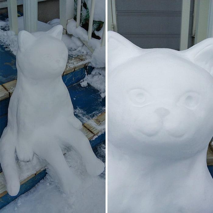 Usuário do Twitter cria esculturas de neve fascinantes e aqui estão 30 das mais legais 12